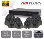 Kit  de 8 cámaras High Performance  para videovigilancia 1080P HD