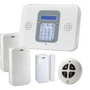 Kit Alarma CommPact / Secuplace. 2GW Central + 2 PIR + 1 Contacto magnetico + 1 Mando