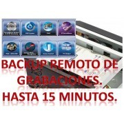 BACKUP DE ARCHIVOS DE VIDEO DE HASTA 15 MINUTOS