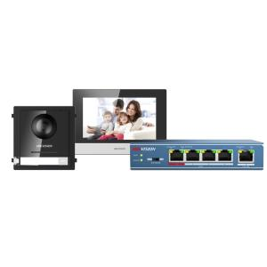 Kit de intercomunicador de vídeo IP Plug&Play Monitor de interior con pantalla táctil de 7""