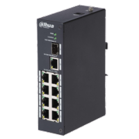 Switch PoE Branded 8 puertos PoE + 1 Uplink RJ45 Velocidad 10/100 Mbps
