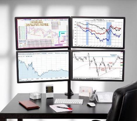 Soporte mesa para 4 monitores 13 23 for Soporte monitor mesa