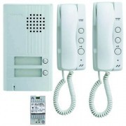 KIT2 - INTERCOM. A 2 HILOS con 2 tel. interiores