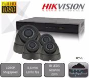 Kit  de 4 cámaras High Performance  para videovigilancia 1080P HD