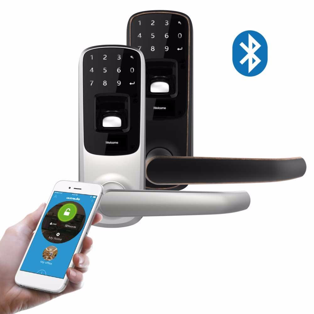 Apertura de puerta con cerradura inteligente anviz for Apertura puertas